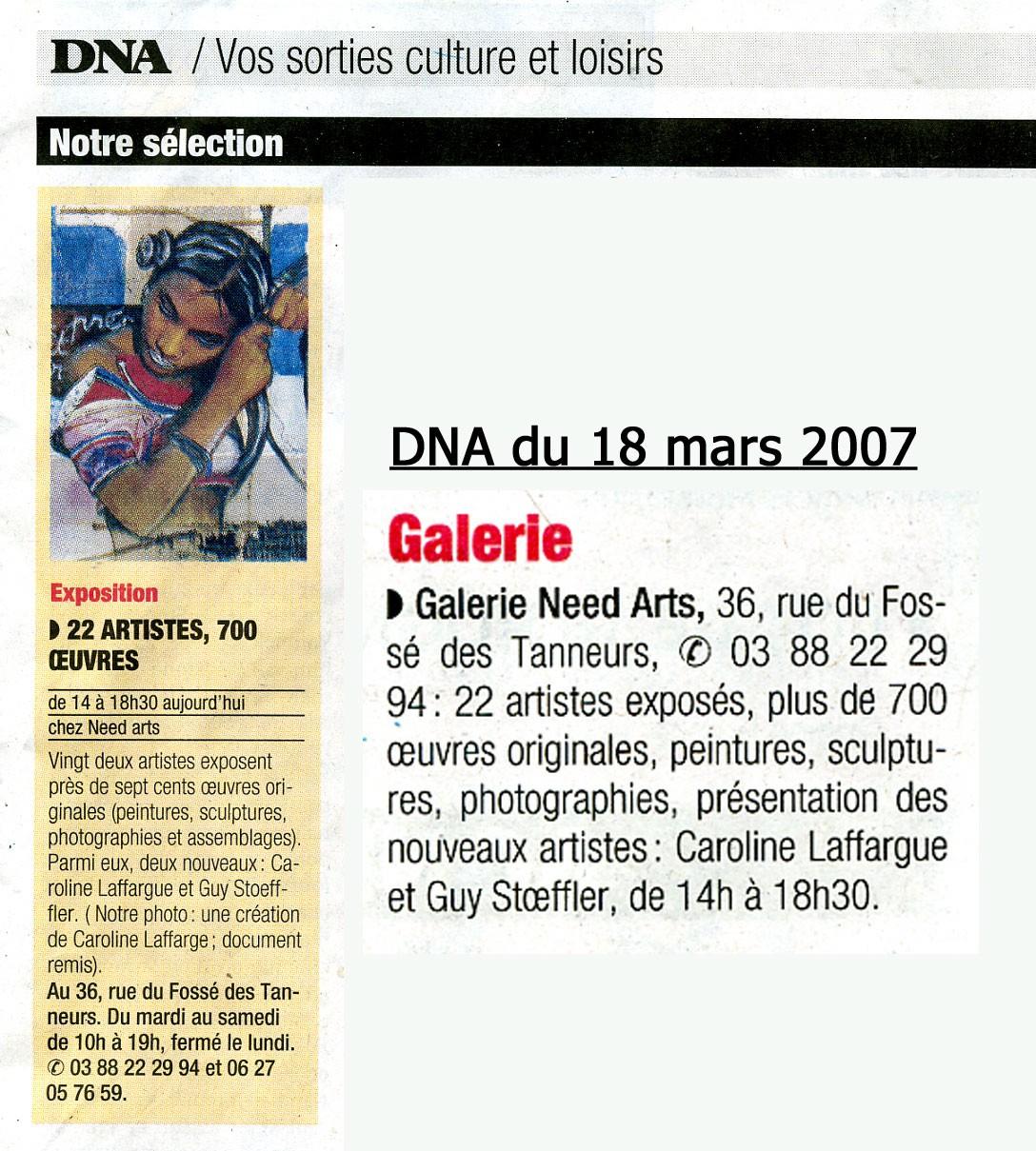 DNA - 18 mars 2007