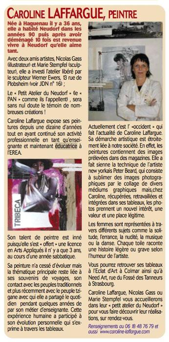 Petit Journal du Neudorf - Novembre 2007